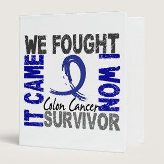 Survivor 5 Colon Cancer 3 Ring Binder
