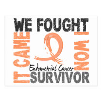 Survivor 5 Endometrial Cancer Postcard