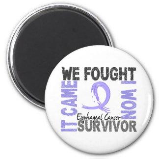 Survivor 5 Esophageal Cancer 2 Inch Round Magnet