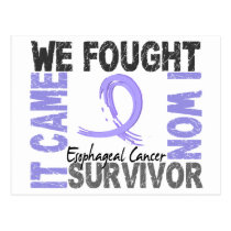 Survivor 5 Esophageal Cancer Postcard