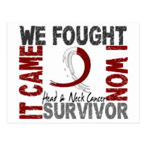Survivor 5 Head Neck Cancer Postcard