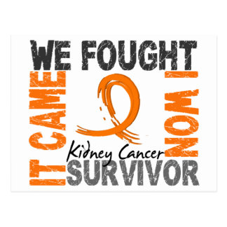 Survivor 5 Kidney Cancer Postcard