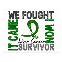 Survivor 5 Liver Cancer Postcard