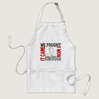 Survivor 5 Lung Cancer Adult Apron