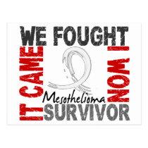 Survivor 5 Mesothelioma Postcard