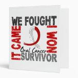 Survivor 5 Oral Cancer 3 Ring Binders