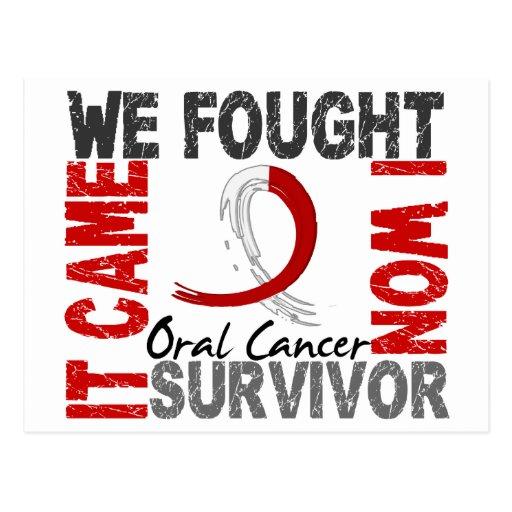 Survivor 5 Oral Cancer Post Card