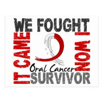Survivor 5 Oral Cancer Postcard