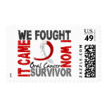 Survivor 5 Oral Cancer Stamp