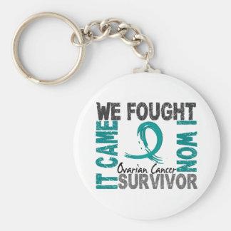 Survivor 5 Ovarian Cancer Keychain
