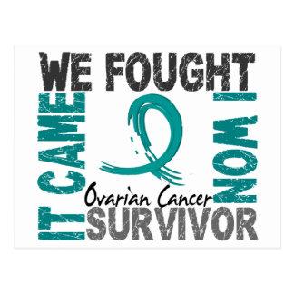 Survivor 5 Ovarian Cancer Postcard