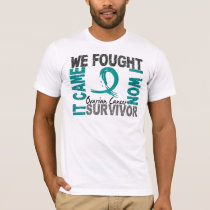 Survivor 5 Ovarian Cancer T-Shirt