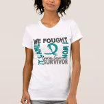 Survivor 5 Ovarian Cancer Tshirts