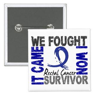 Survivor 5 Rectal Cancer Pinback Button
