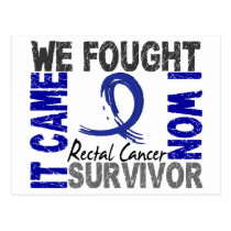 Survivor 5 Rectal Cancer Postcard