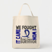 Survivor 5 Rectal Cancer Tote Bag