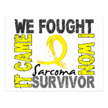 Survivor 5 Sarcoma Postcard