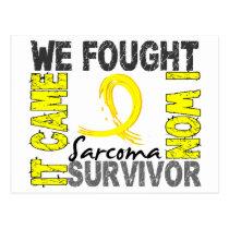 Survivor 5 Sarcoma Postcard