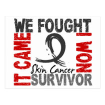 Survivor 5 Skin Cancer Postcard