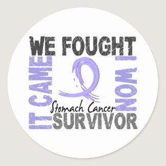 Survivor 5 Stomach Cancer Classic Round Sticker