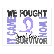 Survivor 5 Stomach Cancer Postcard