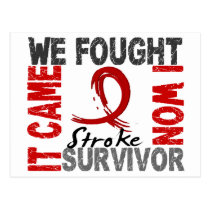 Survivor 5 Stroke Postcard