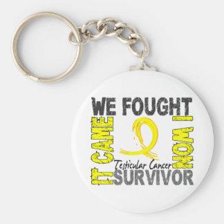 Survivor 5 Testicular Cancer Basic Round Button Keychain