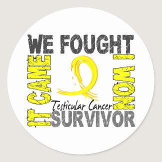 Survivor 5 Testicular Cancer Classic Round Sticker