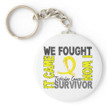 Survivor 5 Testicular Cancer Keychain
