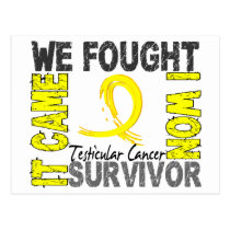 Survivor 5 Testicular Cancer Postcard