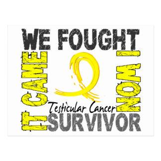 Survivor 5 Testicular Cancer Postcard