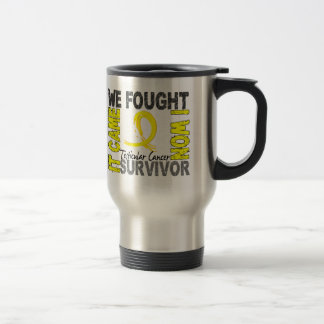 Survivor 5 Testicular Cancer Travel Mug