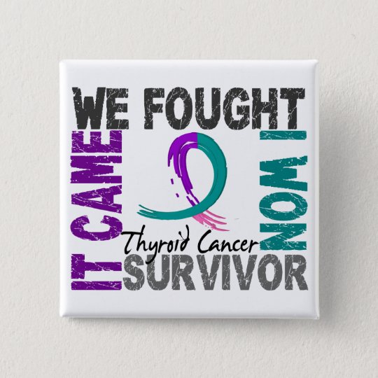 Survivor 5 Thyroid Cancer Pinback Button