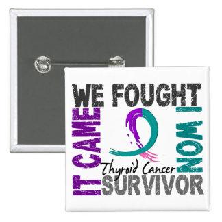 Survivor 5 Thyroid Cancer Pinback Button
