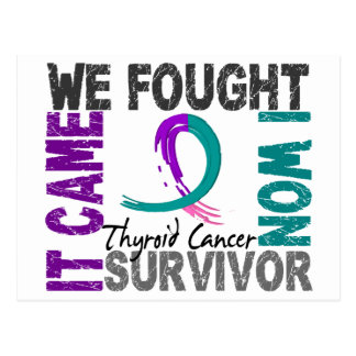 Survivor 5 Thyroid Cancer Postcard