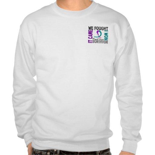 Survivor 5 Thyroid Cancer Pullover Sweatshirt
