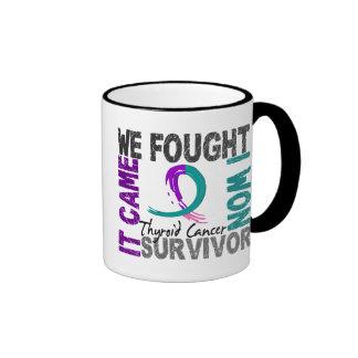 Survivor 5 Thyroid Cancer Ringer Coffee Mug
