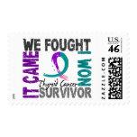 Survivor 5 Thyroid Cancer Stamps