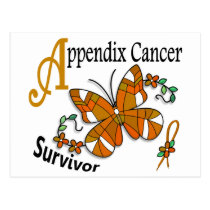 Survivor 6 Appendix Cancer Postcard