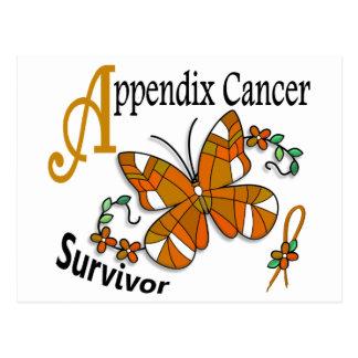 Survivor 6 Appendix Cancer Postcard