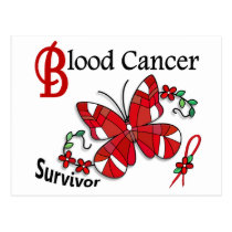 Survivor 6 Blood Cancer Postcard