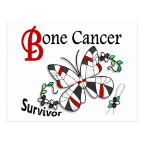 Survivor 6 Bone Cancer Postcard