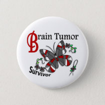 Survivor 6 Brain Tumor Pinback Button