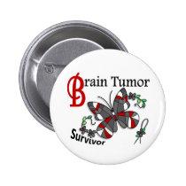 Survivor 6 Brain Tumor Pinback Button
