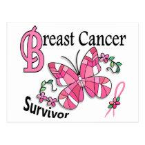 Survivor 6 Breast Cancer Postcard