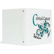 Survivor 6 Cervical Cancer 3 Ring Binder