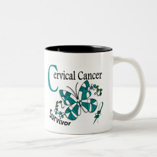 Survivor 6 Cervical Cancer Two-Tone Coffee Mug