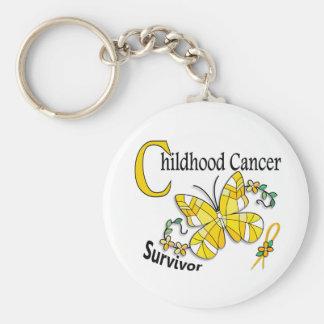 Survivor 6 Childhood Cancer Keychain