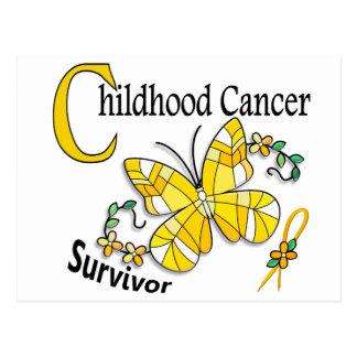 Survivor 6 Childhood Cancer Postcard
