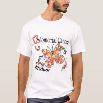 Survivor 6 Endometrial Cancer T-Shirt